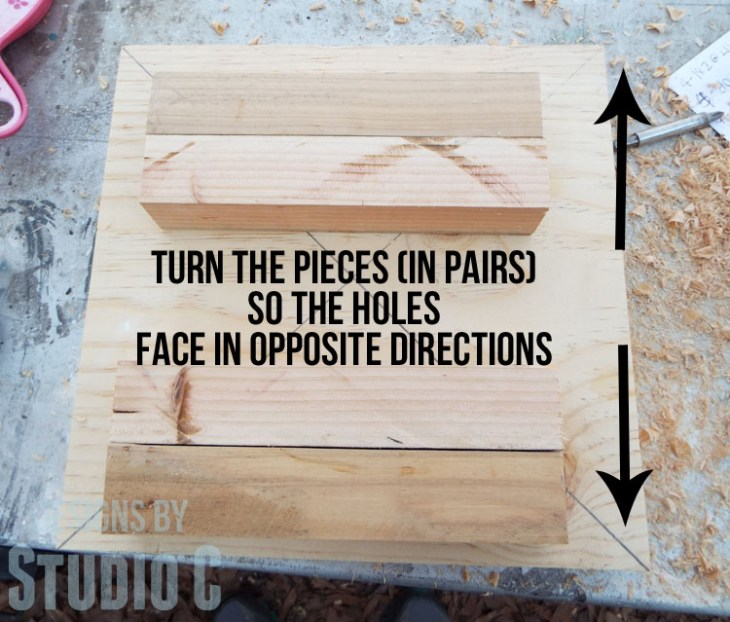 DIY Furniture Plans to Build a Knock-Off Stand or Stool-Second Holes