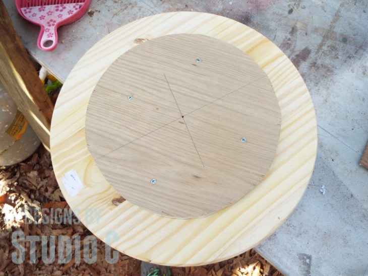 DIY Furniture Plans to Build a Knock-Off Spool Side Table - Top & Bottom Circles