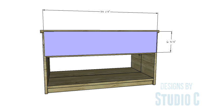 DIY Furniture Plans to Build an Easy Storage Bench-Back