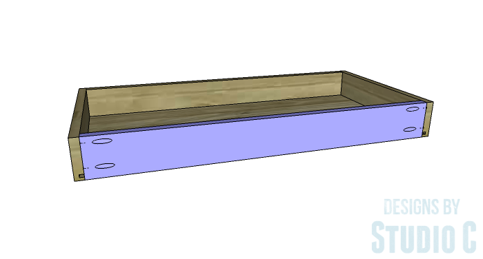 DIY Furniture Plans to Build an Easy Storage Bench-Drawer 4