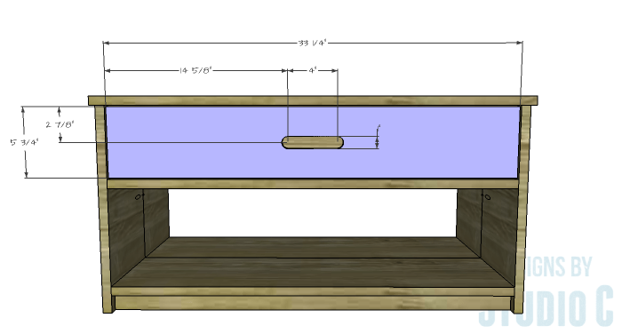 DIY Furniture Plans to Build an Easy Storage Bench-Drawer Front