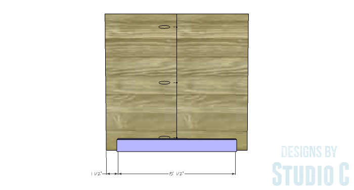DIY Furniture Plans to Build an Easy Storage Bench-Lower Shelf Supports