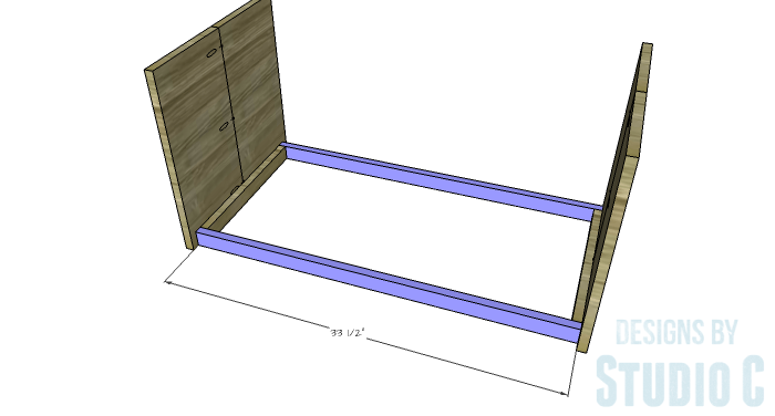 DIY Furniture Plans to Build an Easy Storage Bench-Lower Stretchers