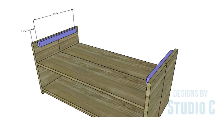DIY Furniture Plans to Build an Easy Storage Bench-Top Supports