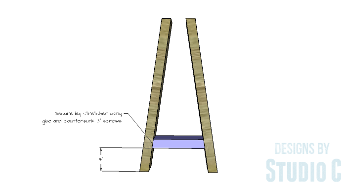 DIY Furniture Plans to Build a Truss-Leg Dining Table-Leg Assembly 2