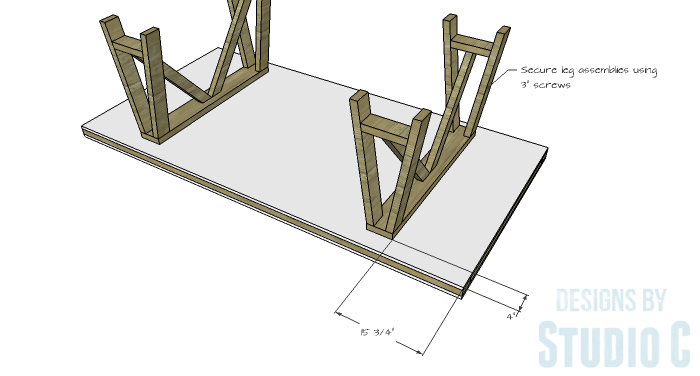 DIY Furniture Plans to Build a Truss-Leg Dining Table-Top 3