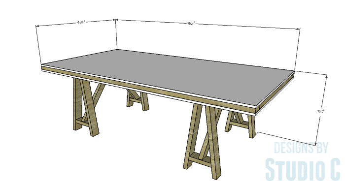 DIY Furniture Plans to Build a Truss-Leg Dining Table