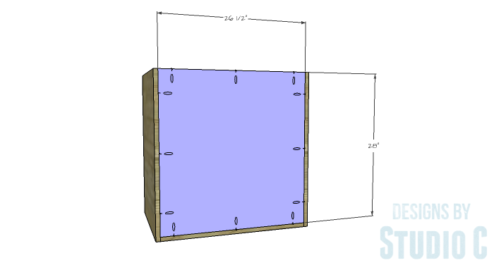 DIY Furniture Plans to Build a Swivel Top Media Cabinet-Back