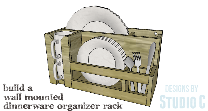 DIY Furniture Plans to Build a Wall Mounted Dinnerware Organizer Rack-Copy