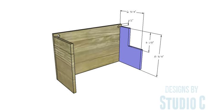 DIY Furniture Plans to Build a Wall Mounted Dinnerware Organizer Rack-Right Side