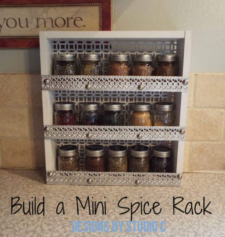 DIY Furniture Plans to Build a Mini Spice Rack - Featured