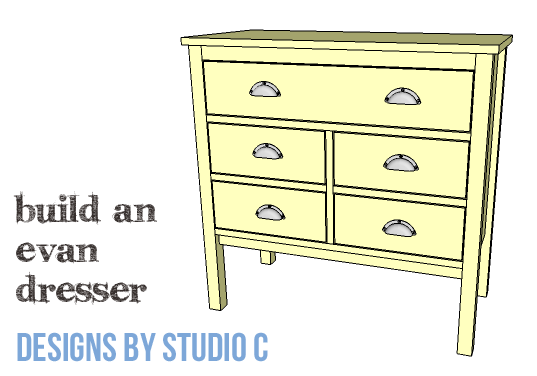 DIY Furniture Plans to Build an Evan Dresser - Copy