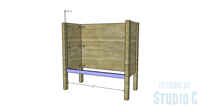 DIY Furniture Plans to Build an Evan Dresser - Lower Stretcher