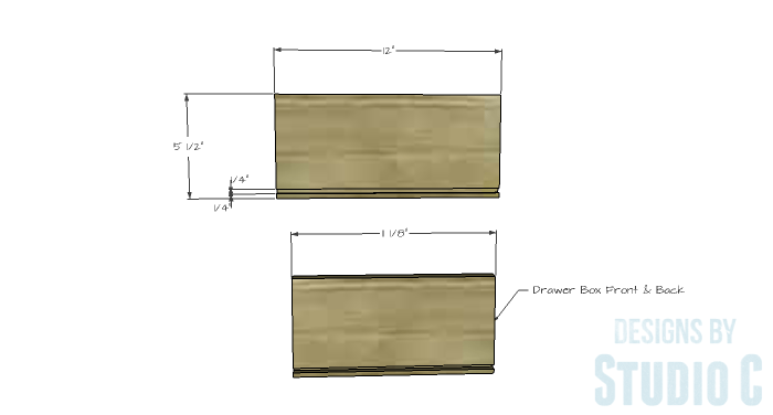 DIY Furniture Plans to Build an Evan Dresser - Small Drawer 1