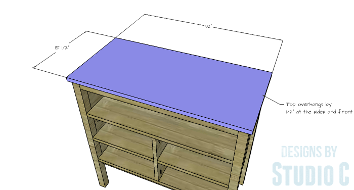 DIY Furniture Plans to Build an Evan Dresser - Top