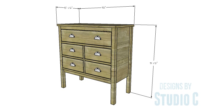 DIY Furniture Plans to Build an Evan Dresser