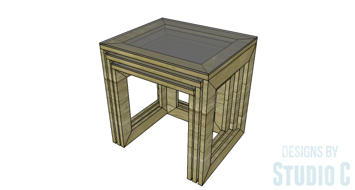DIY Furniture Plans to Build the Hanover Nesting Tables - Copy 2