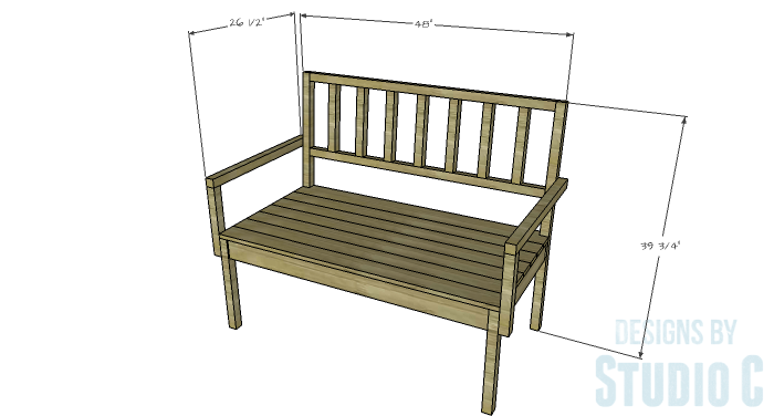 DIY Furniture Plans to Build a Maya Bench
