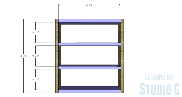DIY Furniture Plans to Build a Mini Spice Rack - Rack