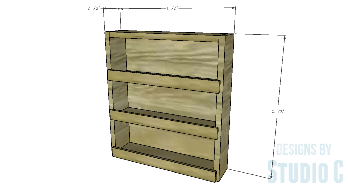 DIY Furniture Plans to Build a Mini Spice Rack
