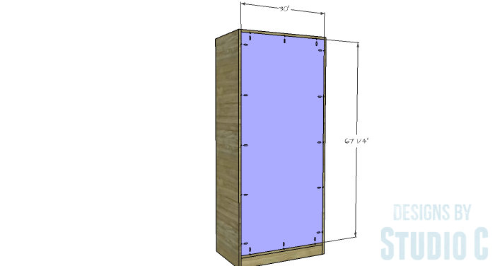 DIY Furniture Plans To Build A Rustic Pantry Cabinet   Cabinet Back