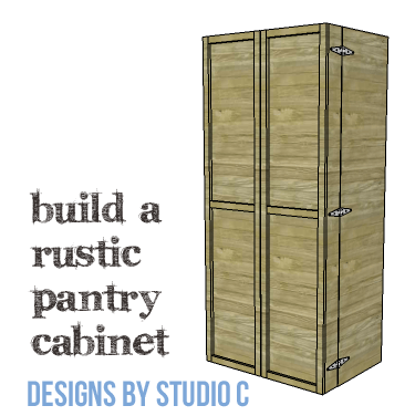 Genial DIY Furniture Plans To Build A Rustic Pantry Cabinet   Copy 1