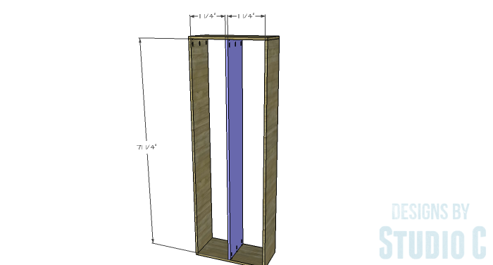 DIY Furniture Plans to Build a Squared Bookcase - Divider