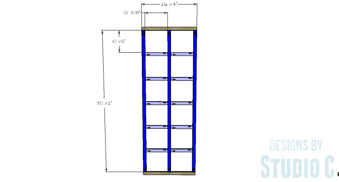 DIY Furniture Plans to Build a Squared Bookcase - Face Frame 1