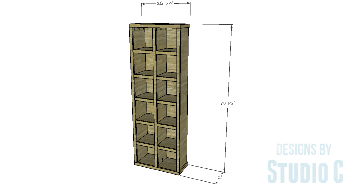 DIY Furniture Plans to Build a Squared Bookcase