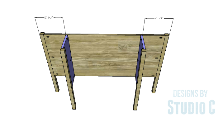 DIY Furniture Plans to Build a Demilune Console Table - Side Panels 2