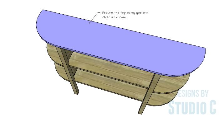 DIY Furniture Plans to Build a Demilune Console Table - Top 2