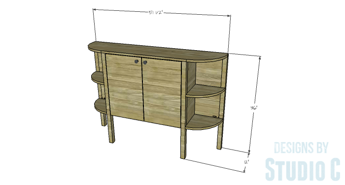 DIY Furniture Plans to Build a Demilune Console Table