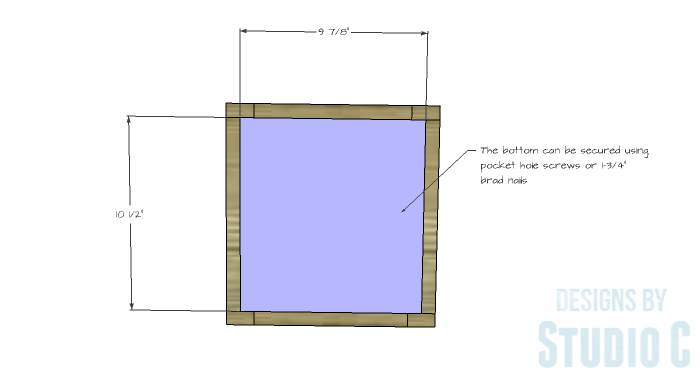 DIY Furniture Plans to Build a Crate Storage Tower - Crate Bottom