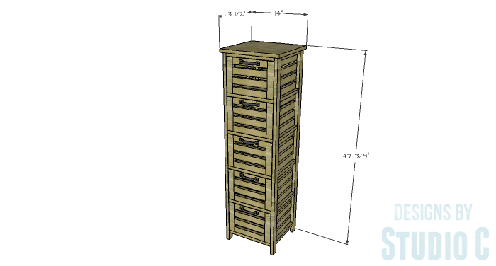 DIY Furniture Plans to Build a Crate Storage Tower