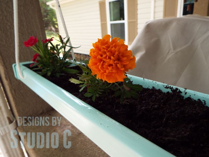 Home Depot Do It Herself Workshop Hanging Gutter Planter - Marigold