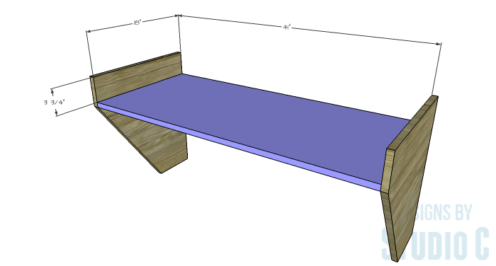 DIY Furniture Plans to Build a Wide Floating Desk - Shelf