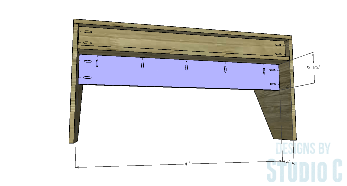 DIY Furniture Plans to Build a Wide Floating Desk - Under Shelf Support