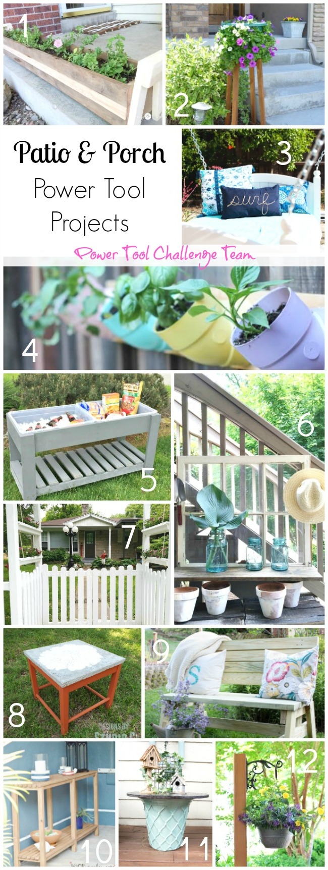 Patio and Porch Power Tool Projects from The Power Tool Challenge Team