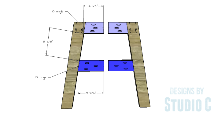 DIY Furniture Plans to Build a Round Cross Base Table - Base 2