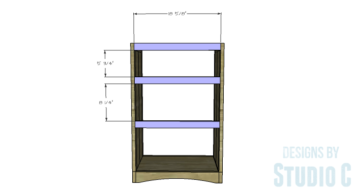 DIY Furniture Plans to Build Ryan's End Table - Back Stretchers