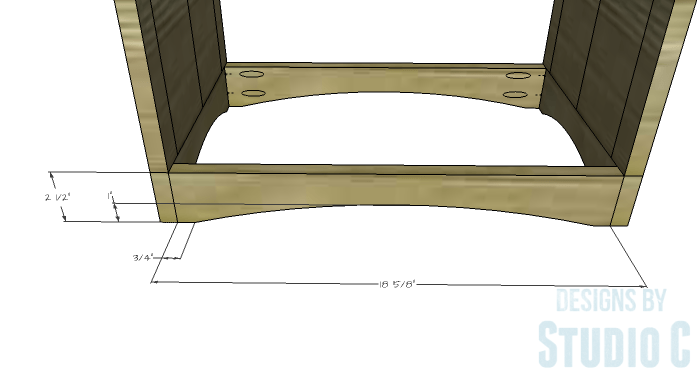 DIY Furniture Plans to Build Ryan's End Table - Bottom Stretchers