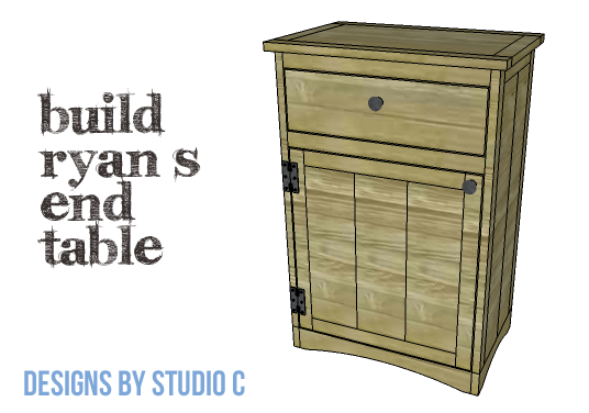 DIY Furniture Plans to Build Ryan's End Table - Easy to Build!