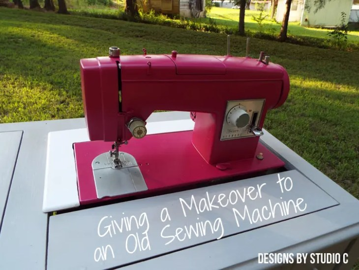 Painting an Old Metal Sewing Machine - Completed