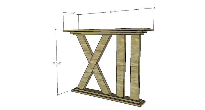 DIY Furniture Plans to Build a Roman Numeral Console Table - Copy