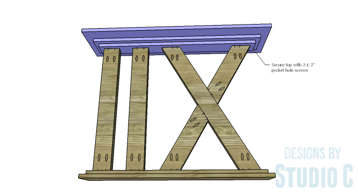 DIY Furniture Plans to Build a Roman Numeral Console Table - Top 2