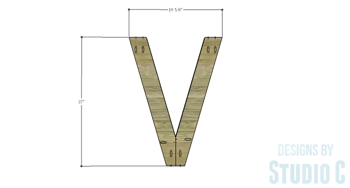 DIY Furniture Plans to Build a Roman Numeral Console Table - V 2