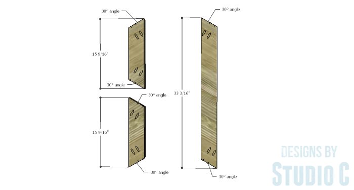 DIY Furniture Plans to Build a Roman Numeral Console Table - X 1