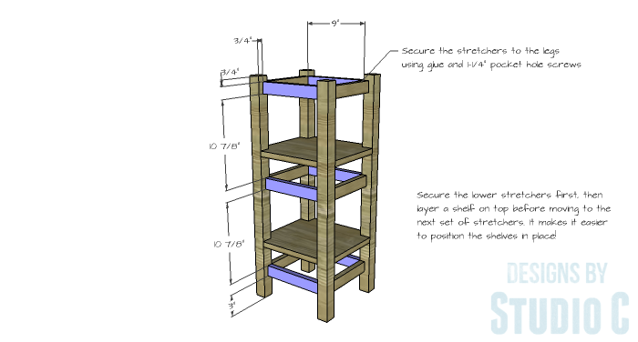 DIY Furniture Plans to Build a Portable Stand for Weights and PowerBlocks - Stretchers 2