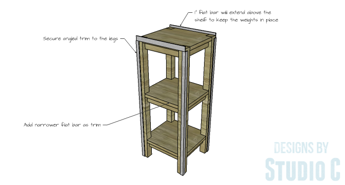 DIY Furniture Plans to Build a Portable Stand for Weights and PowerBlocks - Trim
