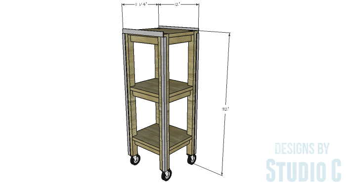 DIY Furniture Plans to Build a Portable Stand for Weights and PowerBlocks